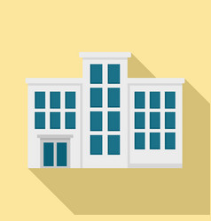 Mental hospital building icon flat style vector