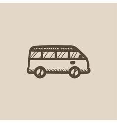 Minibus sketch icon vector