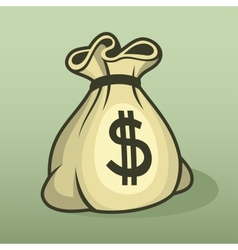 Money icon with bag color vector image