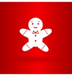 Nice gingerman on the red background vector image