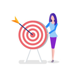 Office worker with target or aim and arrow woman vector