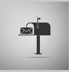 open mail box with an envelope icon isolated vector image