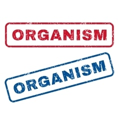 Organism Rubber Stamps vector