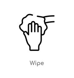 Outline wipe icon isolated black simple line vector