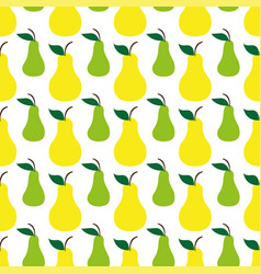 pear green yellow seamless art pattern background vector image