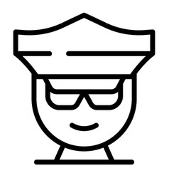policeman avatar icon outline style vector image