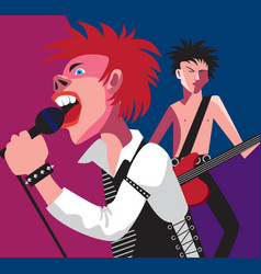 Punk rock vector