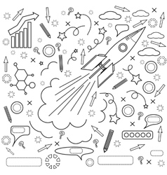 Rocket Icon Concept of Success Initiatives vector