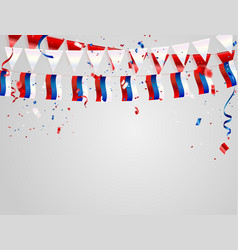 Russia flags celebration background template with vector