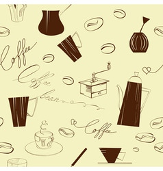 seamless background with element of coffee ceremon vector image