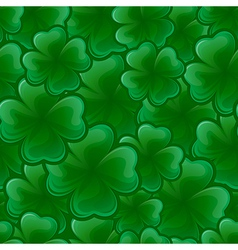 seamless pattern from clover for st patricks day vector image