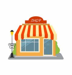 shop street store building facade vector image