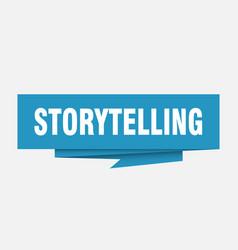 Storytelling vector
