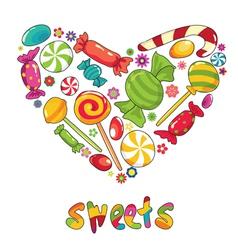 sweets heart shape vector image