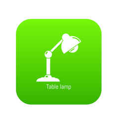 table lamp icon green vector image