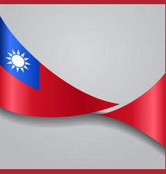 Taiwan wavy flag vector