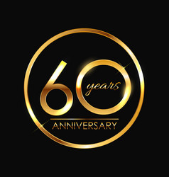 Template 60 years anniversary vector