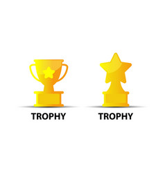 trophy icon isolated on white background from vector image