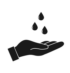 Washing hand with drop vector