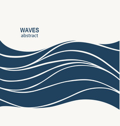 water wave logo abstract design cosmetics surf vector image