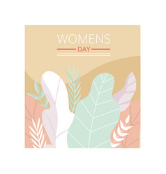 womens day floral greeting card party invitation vector image
