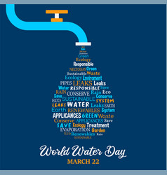 World water day concept for environment care vector