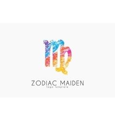 Zodiac maiden logo design Maiden symbol logo vector image