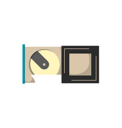 Computer hdd drive disk icon floppy drive memory vector