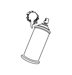 figure aerosol sprays with a stain icon vector image