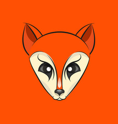 fox head logo vector image vector image