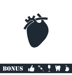 Heart icon flat vector image