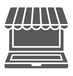 marketplace online glyph icon e commerce vector image