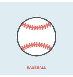 Baseball softball line icon Ball logo vector image