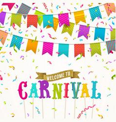 carnival greeting card vector image