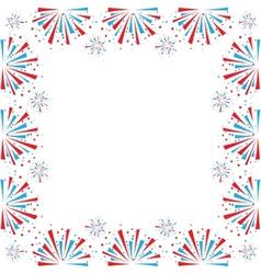 Firework on white vector image vector image
