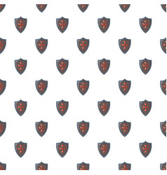 Red cross classic shield pattern seamless vector
