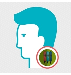silhouette color marker vector image vector image