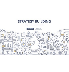 Strategy Building Doodle Concept vector image vector image