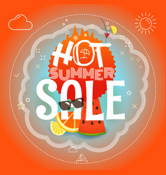 summer sale hot summer vector image