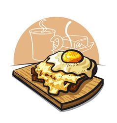 cheese toast vector image