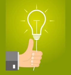concept idea - leadership approves the idea vector image vector image