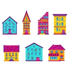 Houses Set Flat vector image