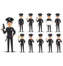 police officer policeman set vector image