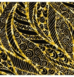 Abstract Golden floral background vector image