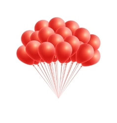 bunch birthday or party red balloons vector image