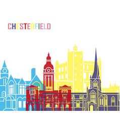 chesterfield uk skyline pop vector image vector image