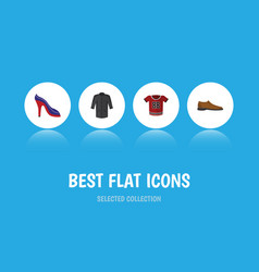 flat icon dress set of male footware heeled shoe vector image vector image