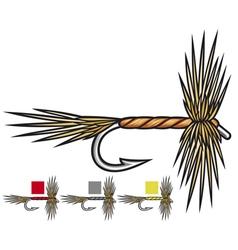 Fly fishing flies vector