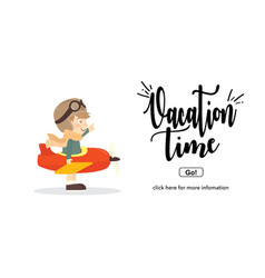 vacation timetravel and adventure concept vector image