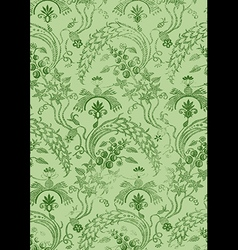 19 Abstract hand-drawn floral seamless pattern vector image